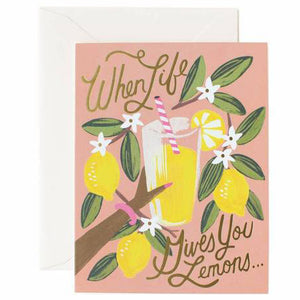Lemons to Lemonade Greeting Card by Rifle Paper Co