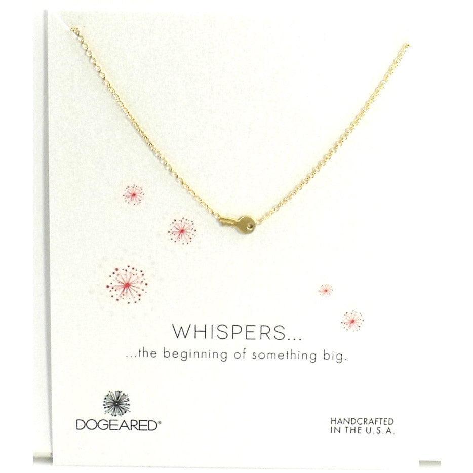 Whispers Cute Key Gold Necklace