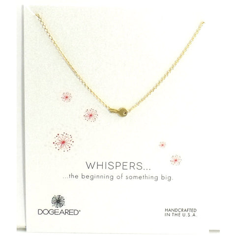 Whispers Cute Key Silver Necklace