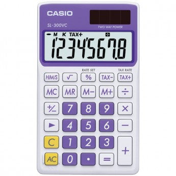 Casio 8 Digit Solar Powered Wallet Calculator - PhotonBuzz.com