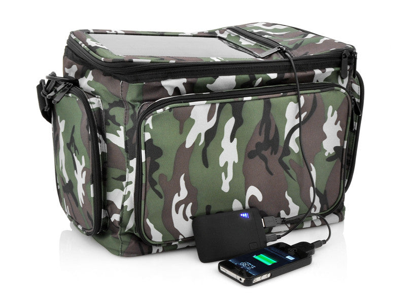 Thermal Solar Cooler Bag - 2200mAh Back-up Battery - PhotonBuzz.com