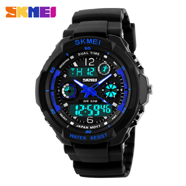 Skmei Brand Sports Watches Fashion Casual Watches Men's S-Shock Quartz Wrist Watch Analog Military LED Digit Watch Montre Homme - PhotonBuzz.com