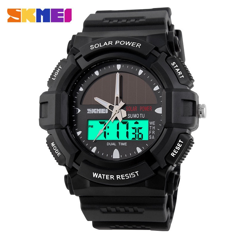 New SKMEI Brand Solar energy Watch Digital Quartz Watches Men Sports Watches Outdoor Military Wristwatches Relogio Masculino - PhotonBuzz.com