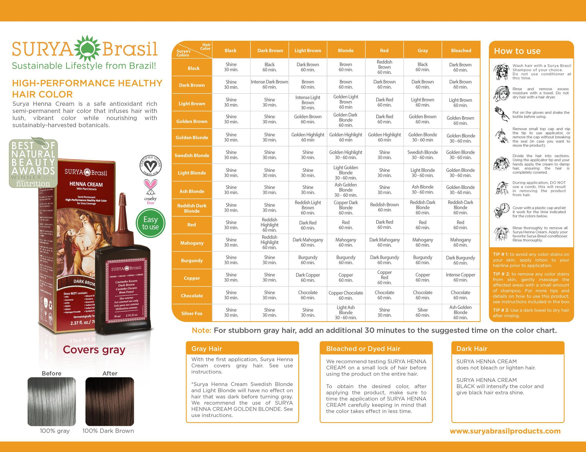 Hair dye colors chart hair color chart surya brasil surya brasil home henna cream color chart nvjuhfo Gallery