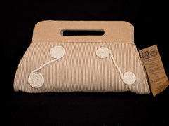 Organic Cotton Clutch Bag with Circular Designs