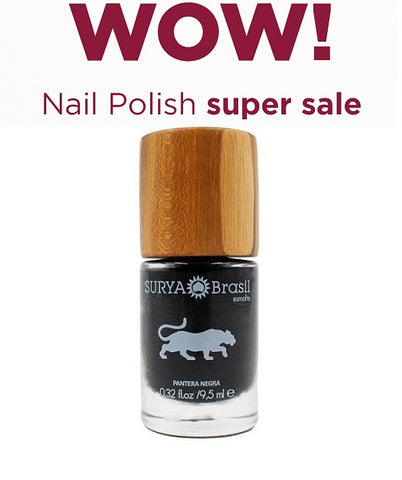 7-Free Nail Polish Black Panther Surya Brasil 9.5ml - 45.26 Special Offer