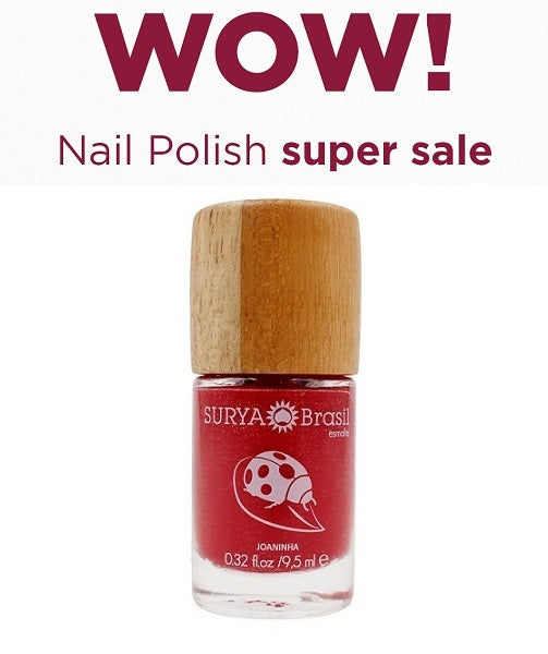 7-Free Nail Polish Ladybug Surya Brasil 9.5ml - 45.27 Special Offer