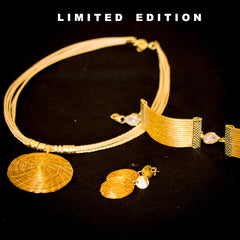 Brazilian Golden Straw Jewelry Set SBP 533112