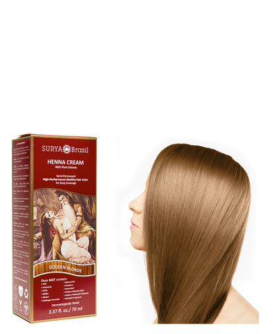 Henna Cream Golden Blonde Surya Brasil 2.37oz