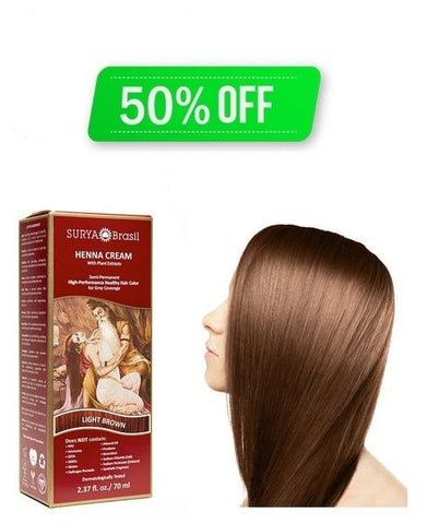 Henna Cream Light Brown Surya Brasil 2.37oz - Special Offer