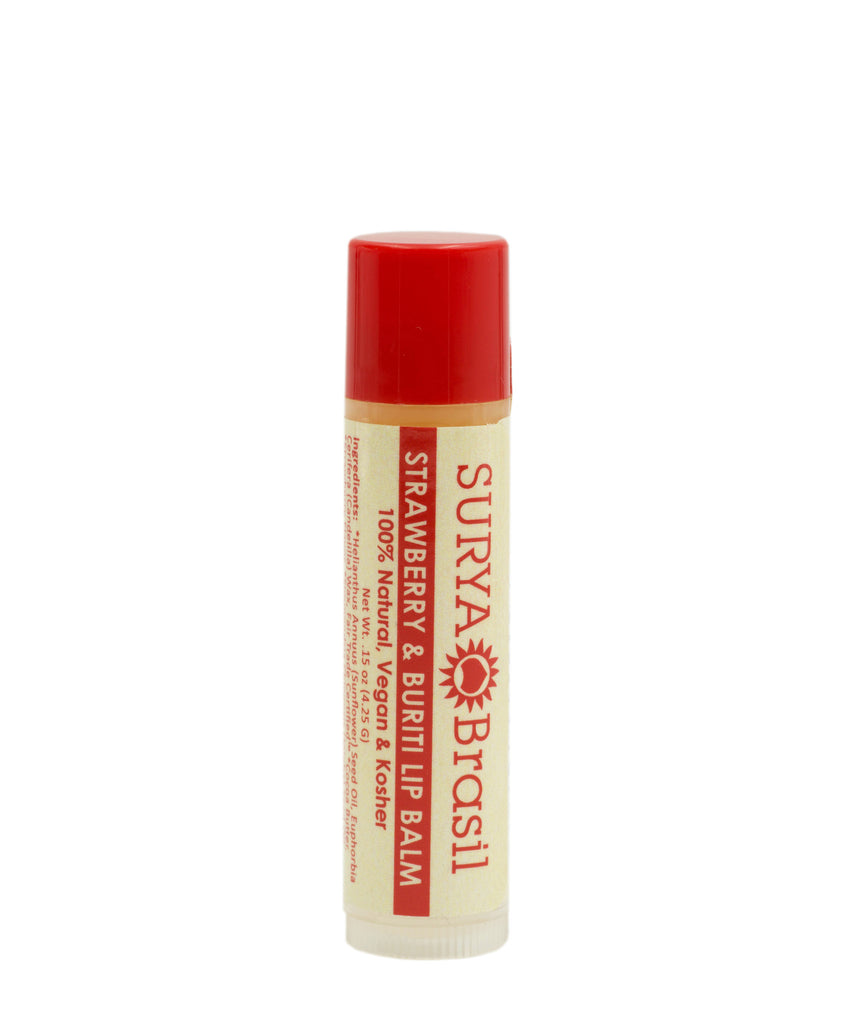 Vegan Moisturizing Lip Balm Strawberry & Buriti
