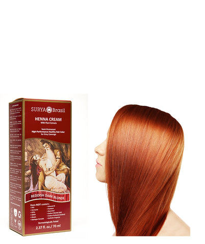 Henna Cream Reddish Dark Blonde Surya Brasil 2.37oz