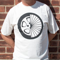 Men Bike Tee - Hybrid Tire