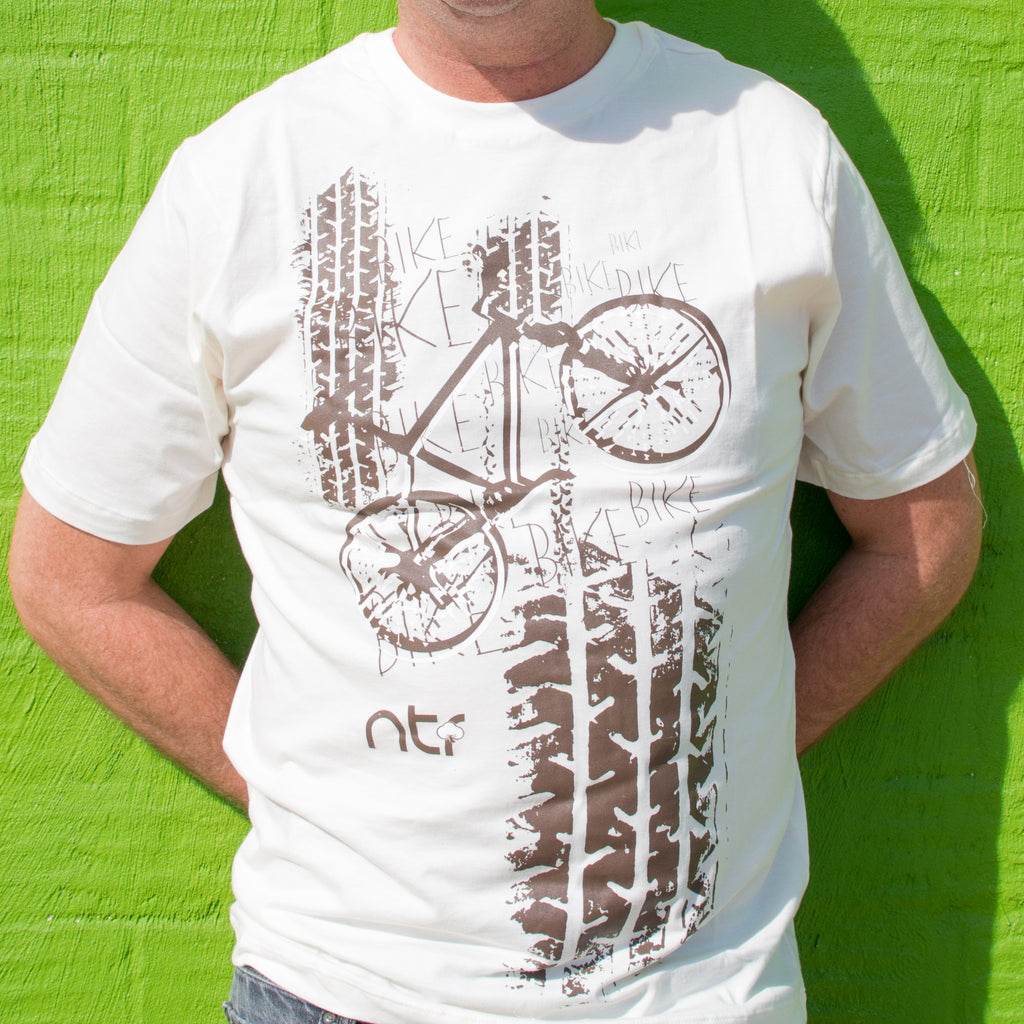 Men Bike Tee - Tire Tracks