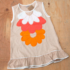 Girls Organic Cotton Daisy Dress