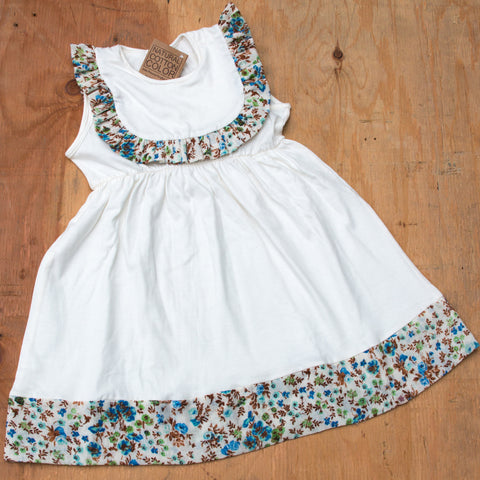 Girls Organic Cotton Floral Dress