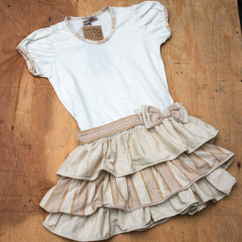 Girls Organic Cotton Ruffle Dress