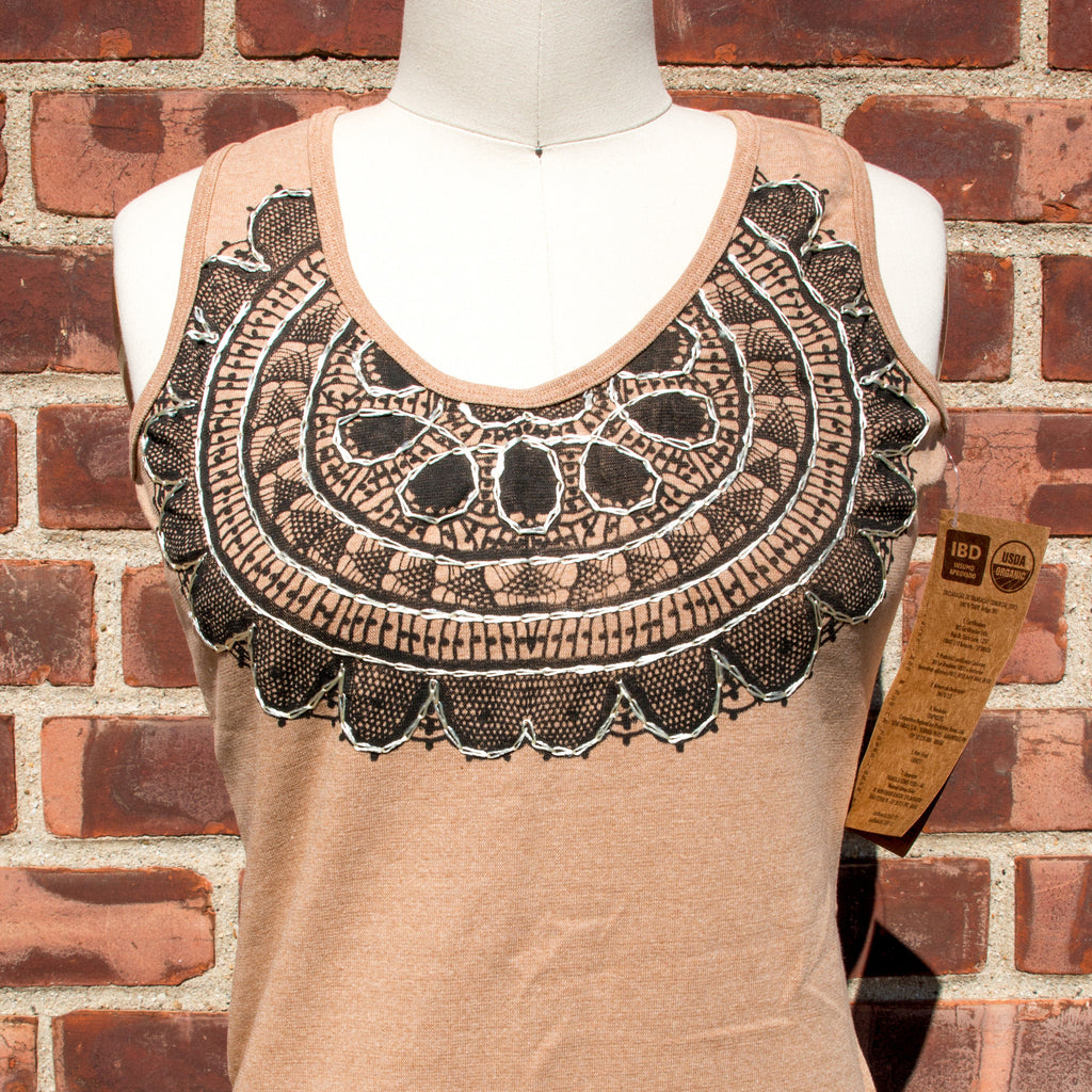 Brown Organic Cotton Sleeveless Top