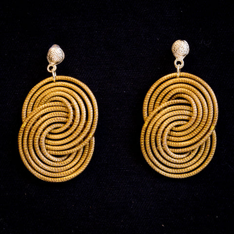 Brazilian Golden Straw Earrings SBP01376