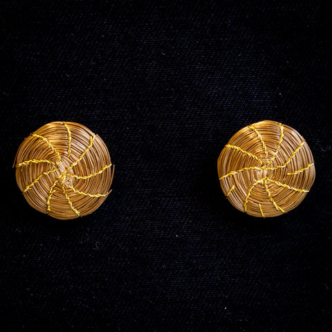 Brazilian Golden Straw Earrings SBP01378