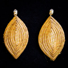 Brazilian Golden Straw Earrings SBP 01383
