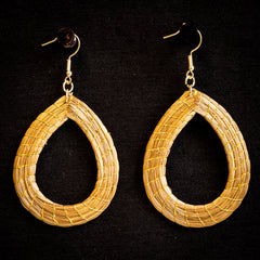Brazilian Golden Straw Earrings SBP 01385