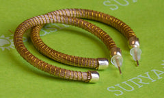 Brazilian Golden Straw Earrings SBP 01386