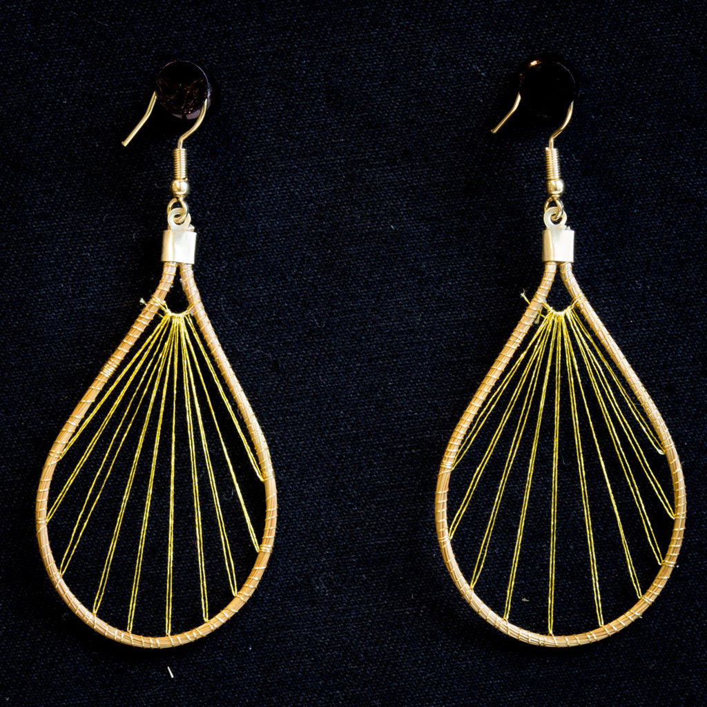 Brazilian Golden Straw Earrings SBP 01388