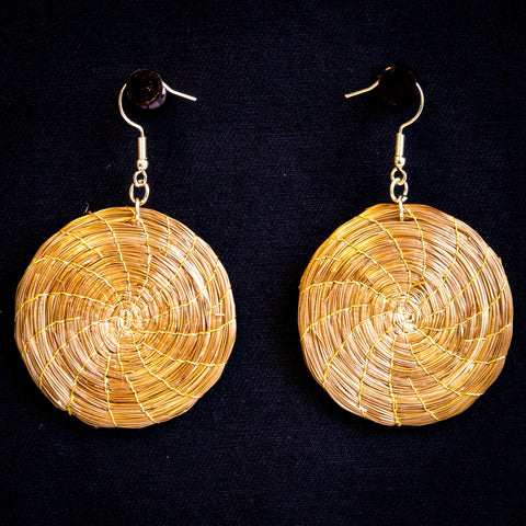 Brazilian Golden Straw Earrings SBP 01390