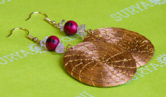 Brazilian Golden Straw Earrings SBP 01391