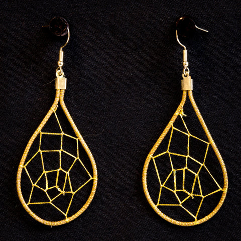 Brazilian Golden Straw Earrings SBP 01393