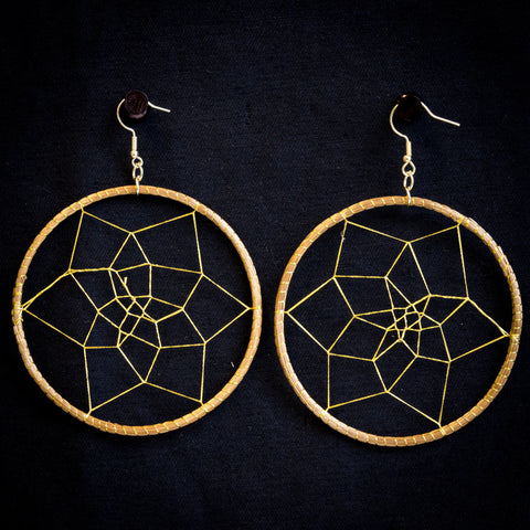 Brazilian Golden Straw Earrings SBP 01396