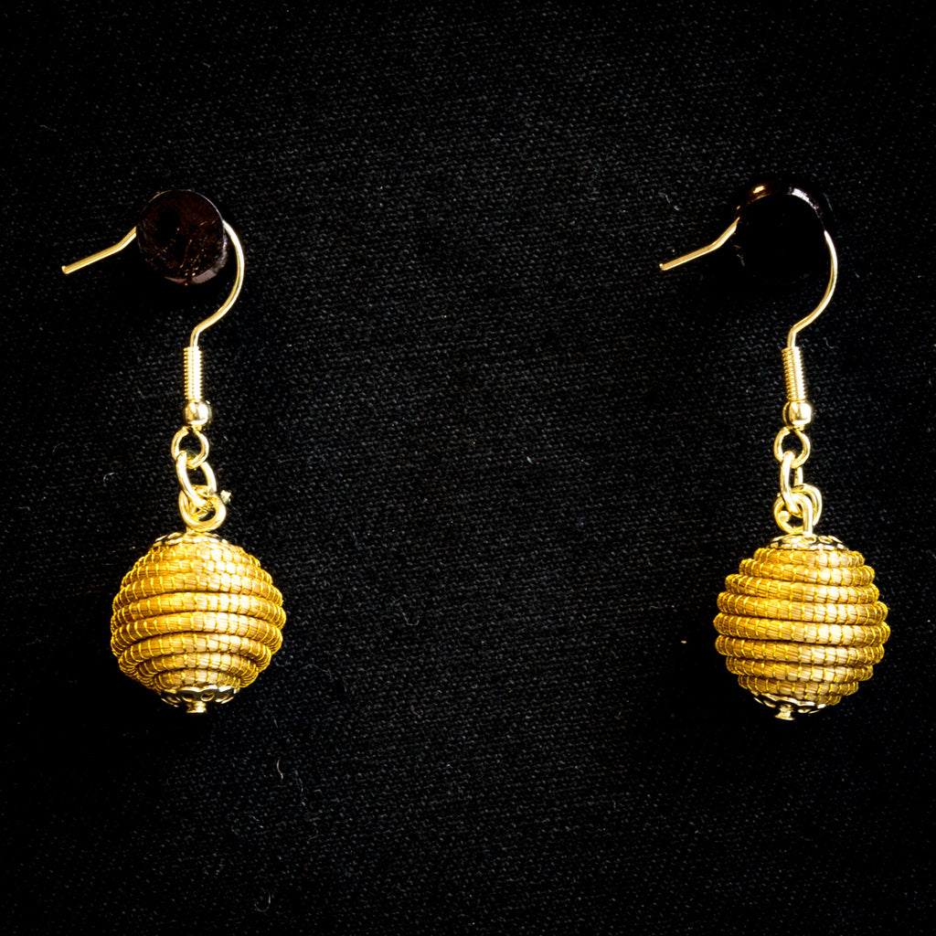 Brazilian Golden Straw Earrings SBP 01398