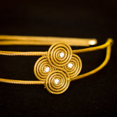 Golden Straw Headband SBP 01400