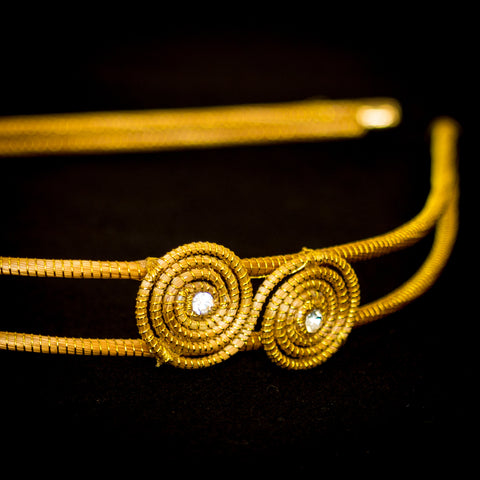 Brazilian Golden Straw Headband SBP 01401