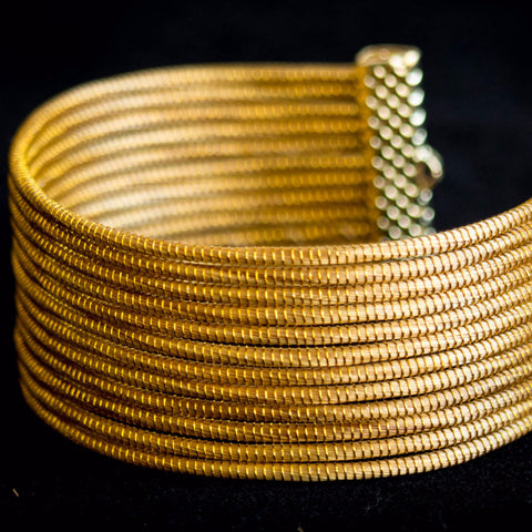 Brazilian Golden Straw Bracelet SBP 01402