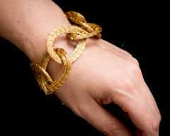 Brazilian Golden Straw Bracelet SBP 01405