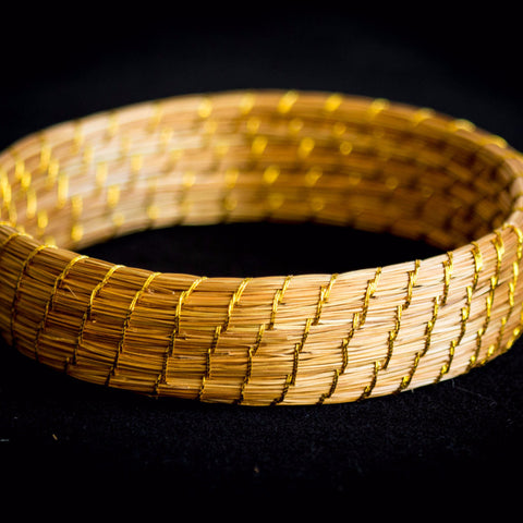 Brazilian Golden Straw Bracelet SBP 01406