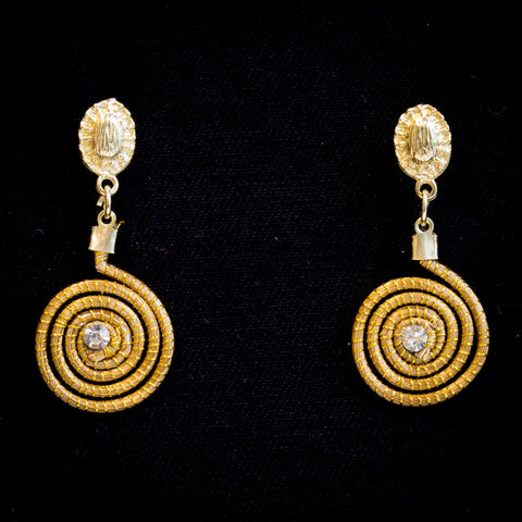 Brazilian Golden Straw Earrings SBP 01666
