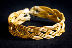 Brazilian Golden Straw Bracelet SBP 01667