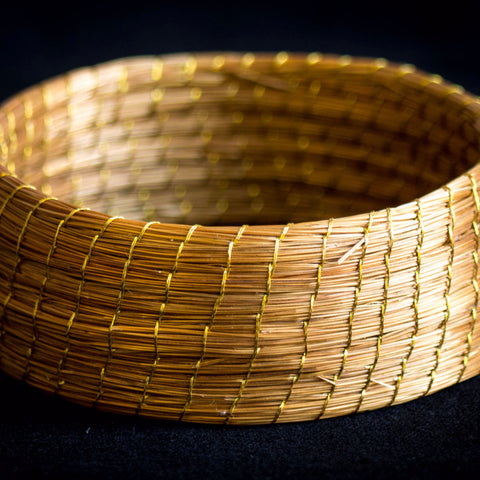 Brazilian Golden Straw Bangle Style Bracelet SBP 02238