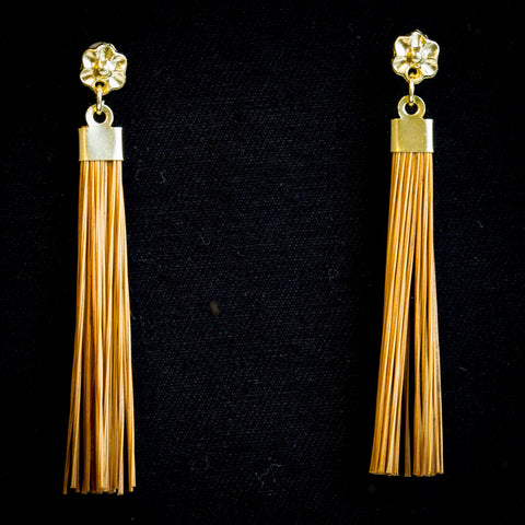 Brazilian Golden Straw Earrings SBP 113801