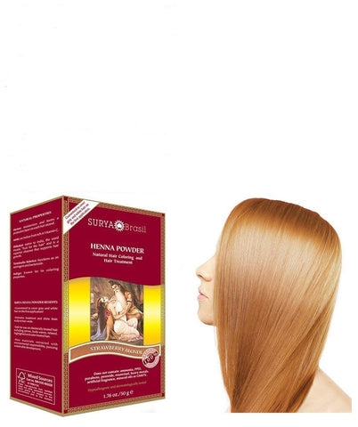 Henna Powder Strawberry Blonde Surya Brasil 1.76oz