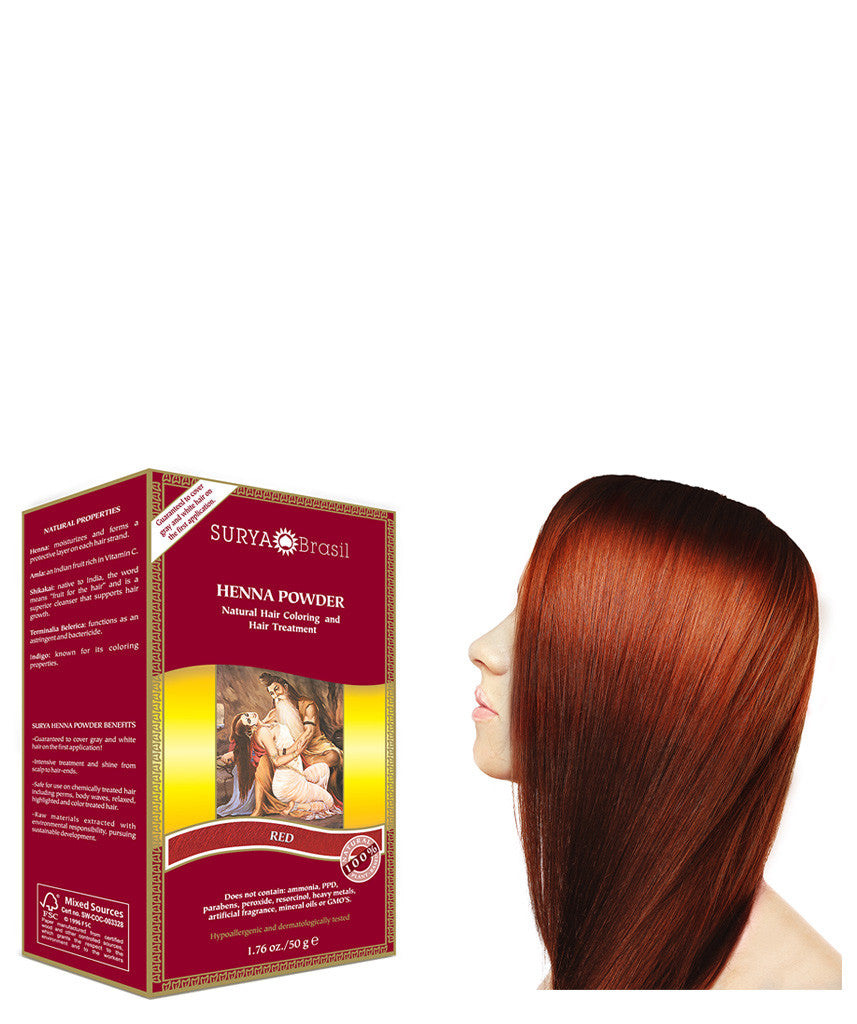 Henna Powder Red Surya Brasil 1.76oz
