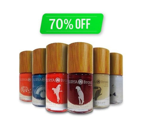 7-Free Nail Polish Surya Brasil 9.5ml - 6 Pack Special Offer