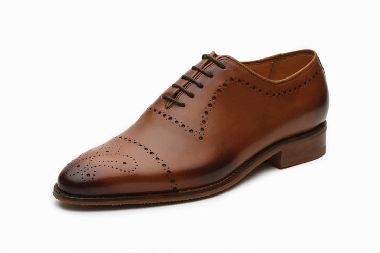 Wholecut Oxford Leather Shoes - Tan (UK 6,  10 & 11)