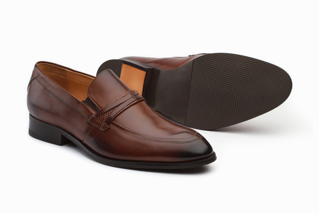 Lorenzo Brown Leather Loafers