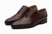 Swan Neck Leather Oxford - Burgundy ( UK 6,10,11 & 12 Only)