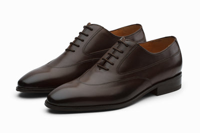 Swan Neck Leather Oxford - Dark Brown (UK 8,9 & 11 Only)
