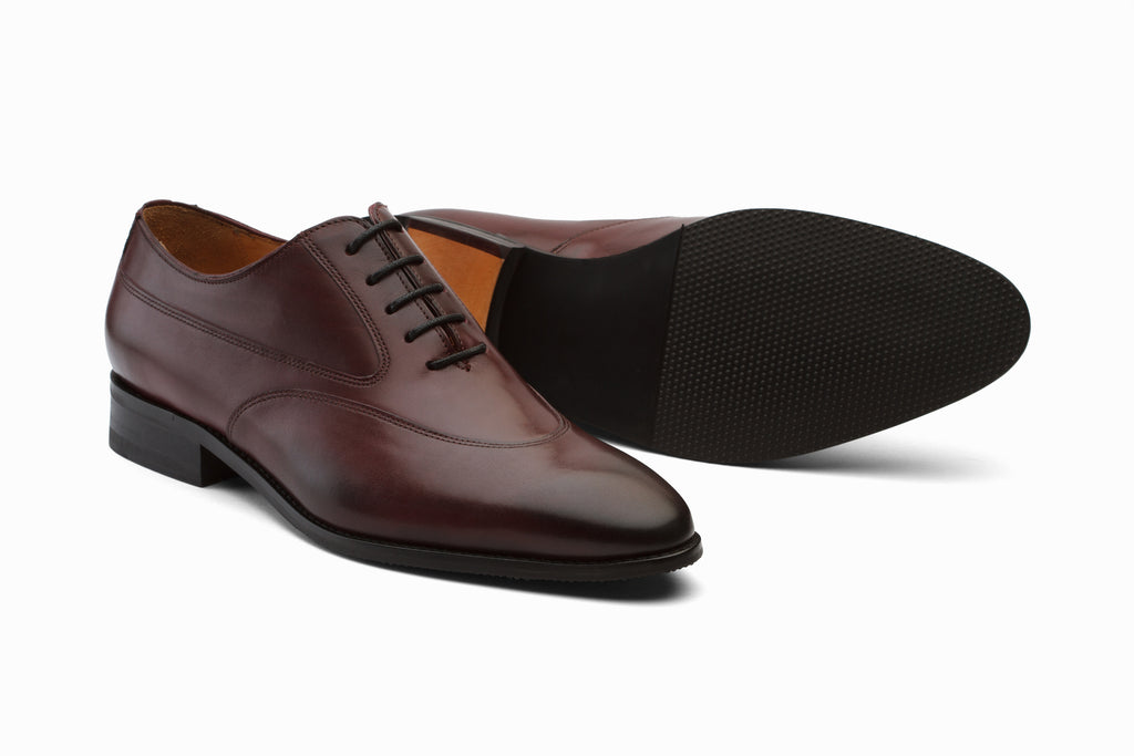 Swan Neck Leather Oxford - Burgundy